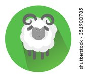 illustration of a ram  male... | Shutterstock . vector #351900785