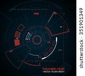 sci fi futuristic user... | Shutterstock .eps vector #351901349