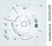 sci fi futuristic user... | Shutterstock .eps vector #351901355