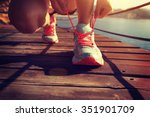 young fitness woman runner... | Shutterstock . vector #351901709