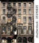 an abandoned building in an... | Shutterstock . vector #35190835