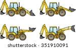 backhoe loaders. heavy... | Shutterstock .eps vector #351910091