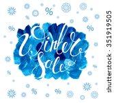winter sale banner. vector... | Shutterstock .eps vector #351919505