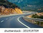twisty road between mountain... | Shutterstock . vector #351919709