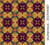 abstract tribal vintage ethnic... | Shutterstock .eps vector #351934487