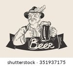 beer  ale vector logo design... | Shutterstock .eps vector #351937175