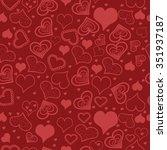 vector illustration. hearts... | Shutterstock .eps vector #351937187
