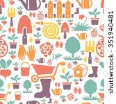 gardening seamless pattern... | Shutterstock .eps vector #351940481