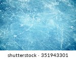blue cracked surface of the ... | Shutterstock . vector #351943301
