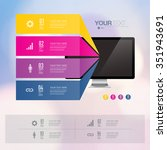 colorful infographic design... | Shutterstock .eps vector #351943691
