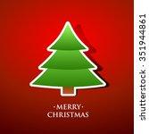 christmas tree | Shutterstock .eps vector #351944861