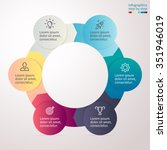 circular infographics with... | Shutterstock .eps vector #351946019
