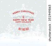 illustration of christmas... | Shutterstock . vector #351949865
