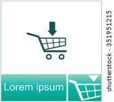 shopping cart vector icon.