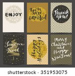 enjoy  you are invited  thank... | Shutterstock .eps vector #351953075