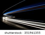 Truck Light Trails In Tunnel....