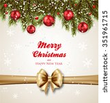 christmas background realistic... | Shutterstock .eps vector #351961715