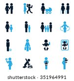 family symbol for web icons | Shutterstock .eps vector #351964991