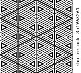 black and white geometric... | Shutterstock .eps vector #351968261