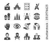 democracy and political icons | Shutterstock .eps vector #351976625
