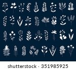 big floral set. hand drawn... | Shutterstock .eps vector #351985925