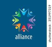 abstract vector logo union of... | Shutterstock .eps vector #351997319