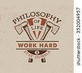 84 philosophy of life  work... | Shutterstock .eps vector #352004957