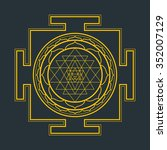 vector gold outline hinduism...