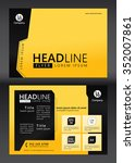 brochure template design.... | Shutterstock .eps vector #352007861