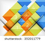 vector square abstract... | Shutterstock .eps vector #352011779