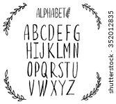 latin alphabet  font  lettering.... | Shutterstock .eps vector #352012835