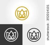 lotus flower logo | Shutterstock .eps vector #352014101