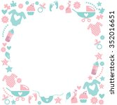 circle baby frame.cute... | Shutterstock .eps vector #352016651
