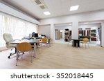 office interior in furniture...   Shutterstock . vector #352018445