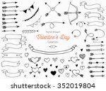 set of hand drawn swirls.... | Shutterstock .eps vector #352019804