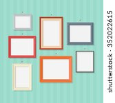 photo frame on wall in a flat... | Shutterstock .eps vector #352022615