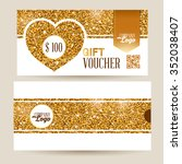 gift voucher template with... | Shutterstock .eps vector #352038407