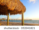 beach hut at sunrise at dania... | Shutterstock . vector #352041821