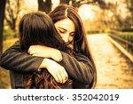 hugging best friend  | Shutterstock . vector #352042019
