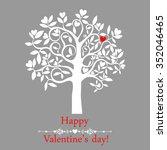 heart tree. valentine's day... | Shutterstock .eps vector #352046465