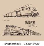 cargo trains | Shutterstock .eps vector #352046939