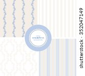 vector set of four backgrounds... | Shutterstock .eps vector #352047149