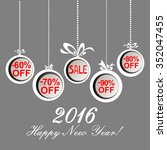 2016 happy new year. christmas... | Shutterstock .eps vector #352047455