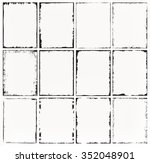 grunge frames set.abstract... | Shutterstock .eps vector #352048901