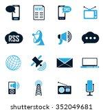 social media symbol for web... | Shutterstock .eps vector #352049681