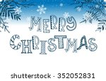 merry christmas postcard... | Shutterstock .eps vector #352052831
