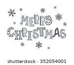 merry christmas postcard... | Shutterstock .eps vector #352054001