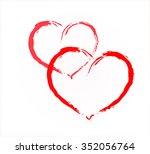 two hearts. vector eps 10.   Shutterstock .eps vector #352056764