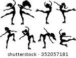ice skaters   silhouette  ... | Shutterstock .eps vector #352057181