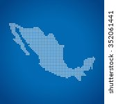 map of mexico | Shutterstock .eps vector #352061441